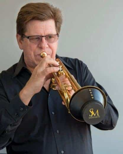 Wayne Bergeron, Soulo Mute endorser, with the best trumpet cup mute, Soulo Adjustable cup mute