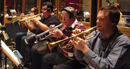 2010 Oscars Trumpet Section with their Soulo Bucket Mutes