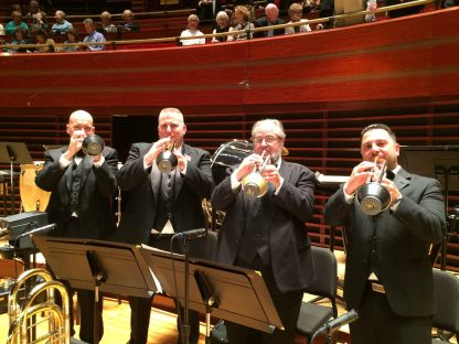 Philly Pops trumpets with their adjustable cup mutes by Soulo Mute