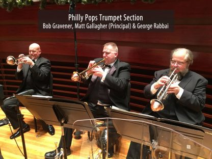 Philly Pops with their Soulo Mute Copper Bottom Straight Mutes