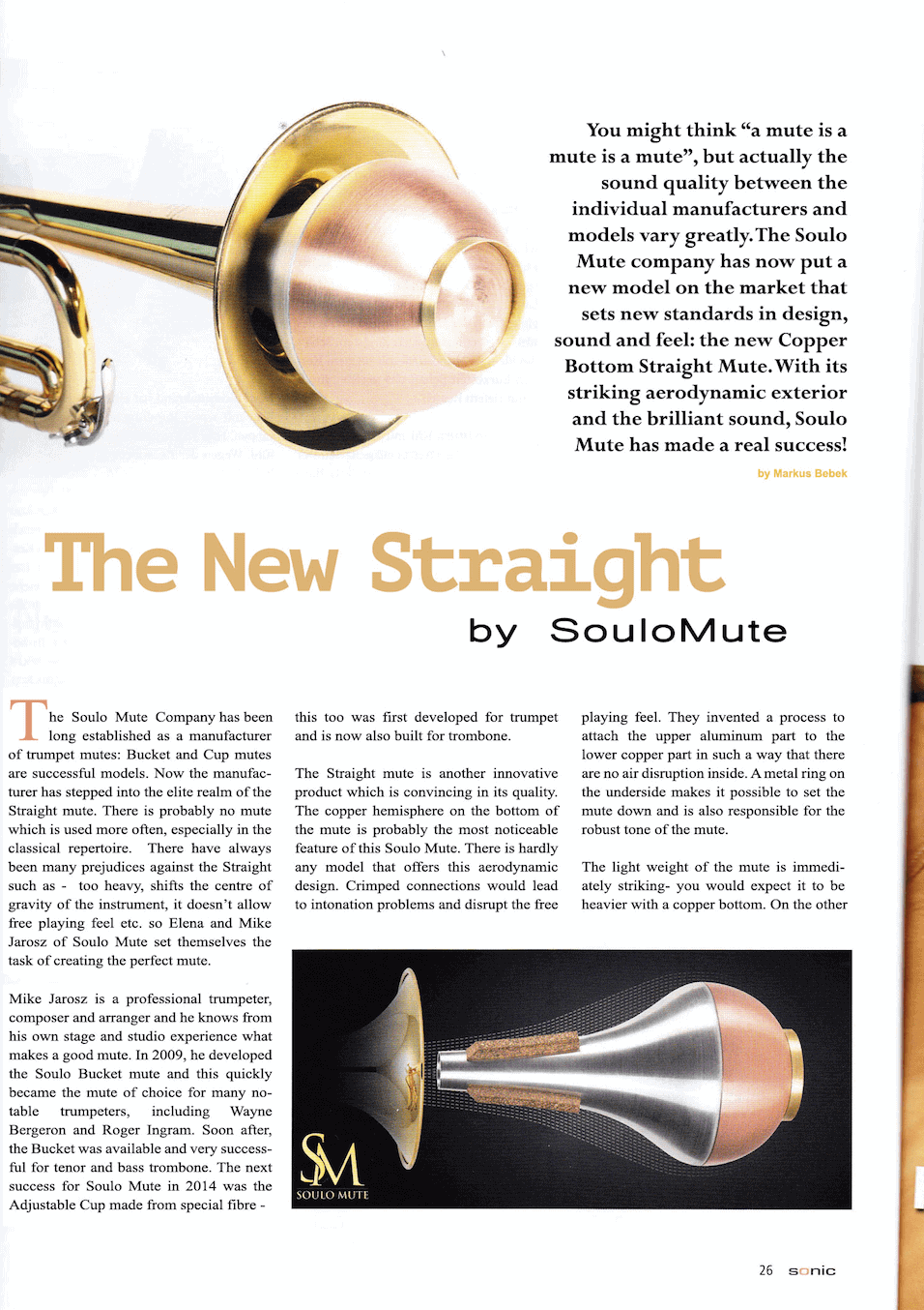 Trumpet straight mute review